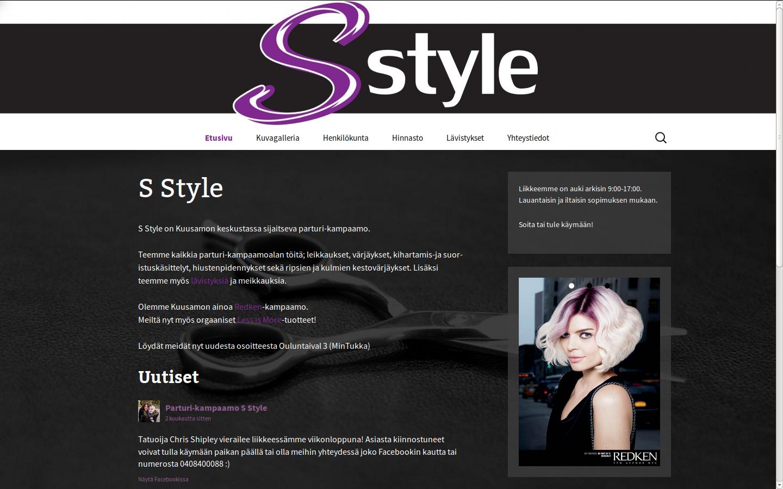 Nettisivut: S Style.